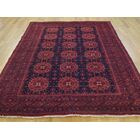 One-of-a-Kind Beasley Natural Dyes Afghan Khamyab Hand-Knotted Blue Wool Area Rug