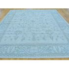 One-of-a-Kind Bearer Stone Wash Hand-Knotted Blue Wool Area Rug