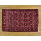 One-of-a-Kind Branden Afghan Khamyab Vegetable Dyes Hand-Knotted Red Wool Area Rug