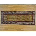 One-of-a-Kind Brandon Antique Caucasian Dagestan Vegetable Dyes Handwoven Yellow Wool Area Rug