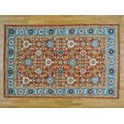 One-of-a-Kind Beare Antiqued Mahal Design Hand-Knotted Red Wool Area Rug
