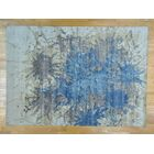 One-of-a-Kind Boyer Splash Design Hand-Knotted Wool Area Rug