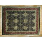 One-of-a-Kind Benally New Zealand Revival Handwoven Black Wool Area Rug