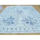 One-of-a-Kind Benally Broken Design Hand-Knotted Ivory Wool/Silk Area Rug