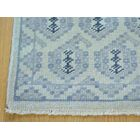 One-of-a-Kind Blevins Turkish Knot Paisley Design Hand-Knotted Ivory Wool Area Rug