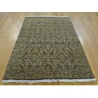 One-of-a-Kind Bean Hand-Knotted Brown Wool Area Rug