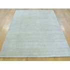 One-of-a-Kind Bean Nepali Hand-Knotted Beige Wool/Silk Area Rug