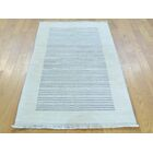 One-of-a-Kind Becker Hand-Knotted Ivory Wool Area Rug