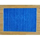 One-of-a-Kind Beare Denim Antiqued Handwoven Blue Wool Area Rug