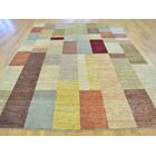 One-of-a-Kind Becker Block Design Hand-Knotted Wool Area Rug