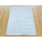 One-of-a-Kind Bean Handwoven Ivory Wool/Silk Area Rug