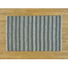One-of-a-Kind Bessey Striped Handmade Kilim Grey Wool Area Rug