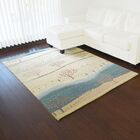 One-of-a-Kind Becker Folk Art Handwoven Ivory Wool Area Rug