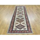 One-of-a-Kind Bechtold Tribal Design Handwoven Ivory Wool Area Rug