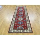 One-of-a-Kind Bernd Kazak Tribal Design Handwoven Red Wool Area Rug