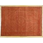 One-of-a-Kind Beaton Handwoven Red Wool/Silk Area Rug