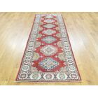One-of-a-Kind Berthold Kazak Tribal Design Handwoven Red Wool Area Rug