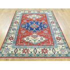 One-of-a-Kind Bechtold Geometric Design Handwoven Red Wool Area Rug