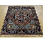 One-of-a-Kind Beare Antiqued Re-creation Handwoven Red Wool Area Rug