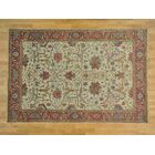 One-of-a-Kind Beare Antiqued Re-creation Handwoven Ivory Wool Area Rug