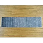 One-of-a-Kind Breana Art Dark Handwoven Grey Silk Area Rug