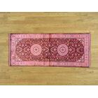 One-of-a-Kind Benally Overdyed Handwoven Red Silk Area Rug