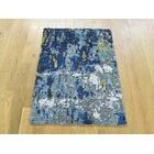 One-of-a-Kind Bowery Abstract Design Handwoven Wool/Silk Area Rug