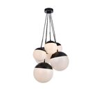 Gilberto 6-Light Cluster Pendant Finish: Black, Shade Color/Pattern: Frosted White