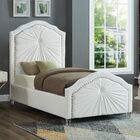 Wednesday Upholstered Platform Bed Size: Twin, Color: White