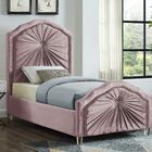 Wednesday Upholstered Platform Bed Size: Queen, Color: Pink