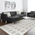 Octavius Block Gray/White Area Rug Rug Size: Rectangle 2' x 3'