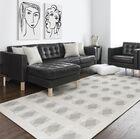 Jonie Block Gray/White Area Rug Rug Size: Rectangle 2' x 3'