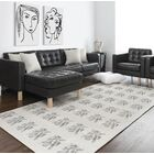 Cutler Block Black/White/Gray Area Rug Rug Size: Rectangle 3' x 5'