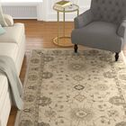 Caresse Hand Tufted Wool Beige Area Rug Rug Size: Rectangle 3' X 5'
