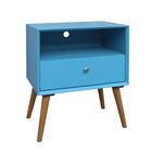 Eoin End Table with Storage Table Top Color: Blue