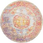 Lonerock Purple/Pink/Yellow Area Rug Rug Size: Round 5'5