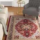 Ottis Mary Red & Black Area Rug Rug Size: Rectangle 9' x 12'