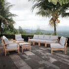 Elaina Outdoor Patio 10 Piece Teak Sectional Seating Group with Cushion Cushion Color: Gray
