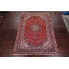 One-of-a-Kind Nazario Floral Kashan Vintage Persian Hand-Knotted 9'1