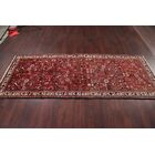 One-of-a-Kind Traditional Bird All Over Hamedan Persian Hand-Knotted 3'6