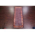 One-of-a-Kind Traditional All Over Floral Sarouk Persian Hand-Knotted 3'10