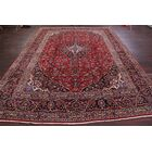 One-of-a-Kind Merkle Vintage Traditional Floral Kashan Persian Hand-Knotted 9'8