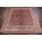 One-of-a-Kind Traditional All Over Floral Sarouk Persian Hand-Knotted 6'8