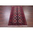 One-of-a-Kind Geometric Tribal Balouch Persian Hand-Knotted 3'4
