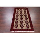 One-of-a-Kind Geometric Tribal Camel Balouch Persian Hand-Knotted 3'5