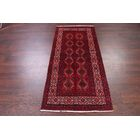 One-of-a-Kind Geometric Tribal Balouch Persian Hand-Knotted 2'11