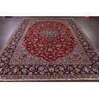 One-of-a-Kind Traditional Floral Najafabad Isfahan Persian Hand-Knotted 8'9
