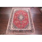One-of-a-Kind Flagg Floral Kashan Vintage Persian Hand-Knotted 9'11