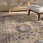 Greenwich Village Cream/Navy Area Rug Rug Size: Round 8'