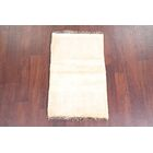 One-of-a-Kind Neilsen Solid Contemporary Gabbeh Shiraz Persian Hand-Knotted 1'10